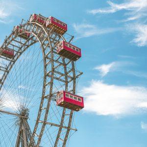 Prater, a historic ferris wheel in Vienna, Austria